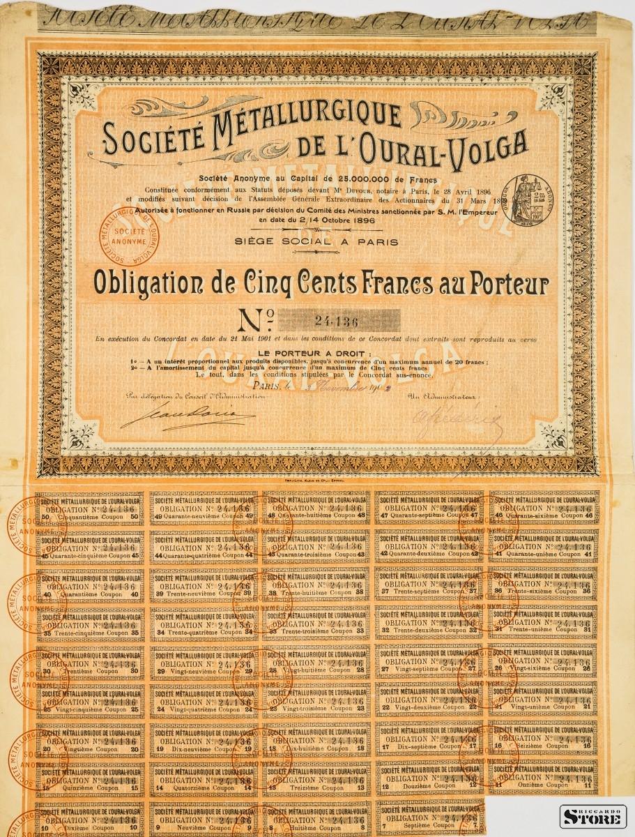 RUSSIE D Société Métallurgique de l/'OURAL-VOLGA