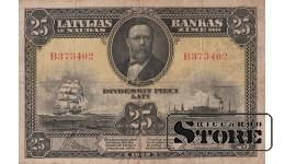 БАНКНОТА, 25 Лат 1928 год - В 373402