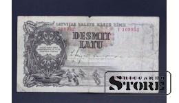 БАНКНОТА , ЛАТВИЯ , 10 ЛАТ 1937 год - T109952
