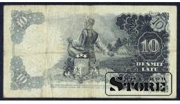 БАНКНОТА , ЛАТВИЯ , 10 ЛАТ 1937 - S 139838