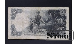 БАНКНОТА , ЛАТВИЯ , 10 ЛАТ 1938 год - AD 117047