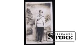 Открытка, солдат позирует на заднем плане , Цирулис Янис