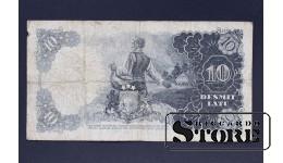 БАНКНОТА , ЛАТВИЯ , 10 ЛАТ 1937 год - C 064764