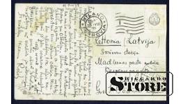 Старинная открытка Скалы в море