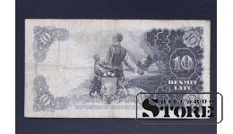 БАНКНОТА , ЛАТВИЯ , 10 ЛАТ 1937 год - L 120464