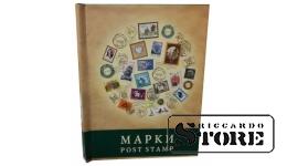 Альбом-планшет на 4 листа для хранения марок, с титульным листом