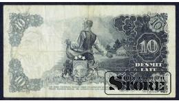 БАНКНОТА , ЛАТВИЯ , 10 ЛАТ 1937 ГОД - V 175298