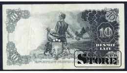 БАНКНОТА , ЛАТВИЯ , 10 ЛАТ 1938 - AG 080573