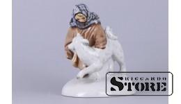 Фарфоровая статуэтка «Укутыш с собакой»