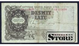 БАНКНОТА , ЛАТВИЯ , 10 ЛАТ 1938 - AH  115699