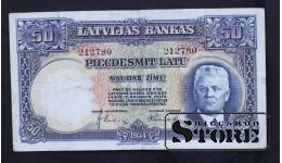 Банкнота, Латвия ,50 лат 1934 год - 212780