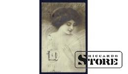 Коллекционная открытка Российской Империи Кокетка