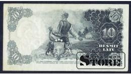 БАНКНОТА , ЛАТВИЯ , 10 ЛАТ 1938 - AE 060813