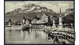 Старинная открытка 1939 года Люцерн