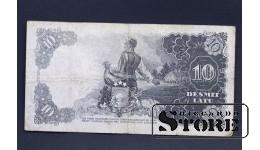 БАНКНОТА , ЛАТВИЯ , 10 ЛАТ 1937 год - K 151211