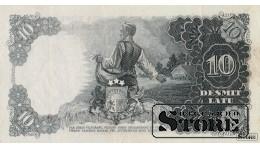 БАНКНОТА , ЛАТВИЯ , 10 ЛАТ 1937 ГОД - L 039036