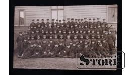 Открытка, Солдаты, групповое фото