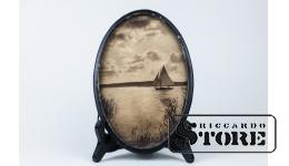 Настенный декор, Парусная лодка 22 x 14,5 cm