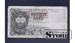 БАНКНОТА , ЛАТВИЯ , 10 ЛАТ 1937 - R069885