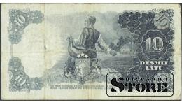 БАНКНОТА , ЛАТВИЯ , 10 ЛАТ 1937 ГОД -K 054278
