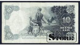 БАНКНОТА , ЛАТВИЯ , 10 ЛАТ 1938 - AF 081619