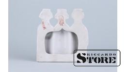 статуэтка панно ,фарфор ,Рига ,Рижский фарфоровая фабрика , 50-е годы , 13 см