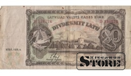 Банкнота , 20 Лат 1935 год - D 136776