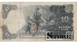 БАНКНОТА , ЛАТВИЯ , 10 ЛАТ 1940 ГОД , DC 141060