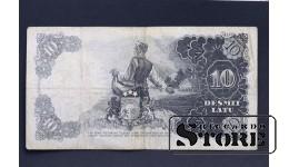 БАНКНОТА , ЛАТВИЯ , 10 ЛАТ 1937 L 035753