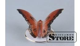 Статуэтка, Бабочка, фарфор,Рига, Рижская фарфоровая фабрика, 50-е годы , 6 см
