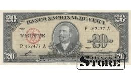 Куба 20 песо 1960