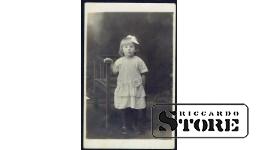 Старинная открытка времён Ульманиса. Славный ребёнок