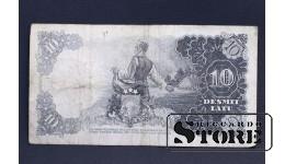 БАНКНОТА , ЛАТВИЯ , 10 ЛАТ 1937 M 099345