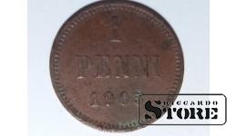 Финляндия 1 пенни 1905