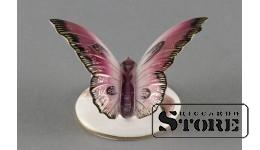 Фарфоровая статуэтка Бабочка, Малиновая