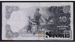БАНКНОТА , ЛАТВИЯ , 10 ЛАТ 1938 год - AH 015097