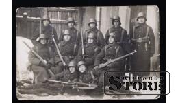 Открытка, Солдаты на военной службе в Даугавпилсе