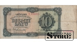 Банкнота , 10 лат 1934 год - T 186025