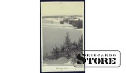Старинная открытка времён Ульманиса Латвийская зима