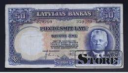 Банкнота, Латвия ,50 лат 1934 год - 279209