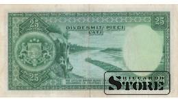 БАНКНОТА , ЛАТВИЯ , 25 ЛАТ 1938 ГОД -  C056,315