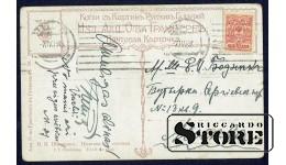 Коллекционная открытка Российской Империи Полянка с соснами