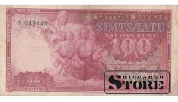 БАНКНОТА, ЛАТВИЯ, 100 ЛАТ 1939 ГОД -A 049444