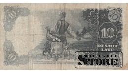 BANKNOTE , LATVIA, 10 LATI 1939 GADS - BL 129236
