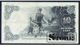 БАНКНОТА , ЛАТВИЯ , 10 ЛАТ 1938 - AF 131096