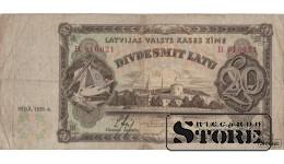 Банкнота , 20 Лат 1935 год - В 016021