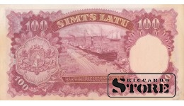BANKNOTE , LATVIA, 100 LATI 1939 GADS  - A 760537