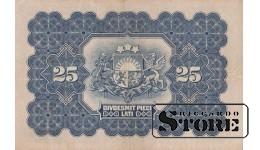 БАНКНОТА, Латвия , 25 Лат 1928 год -  B188888 VF