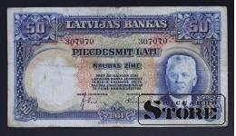 Банкнота, Латвия ,50 лат 1934 год - 307070