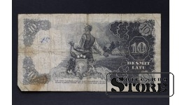 БАНКНОТА , ЛАТВИЯ , 10 ЛАТ 1938 год - AB157876